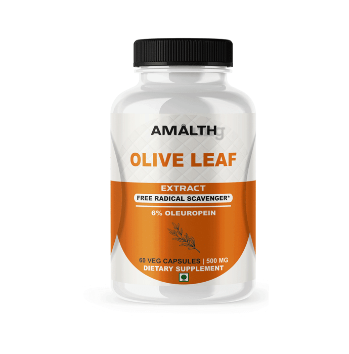 Amalth Olive Leaf Extract Veg Capsules