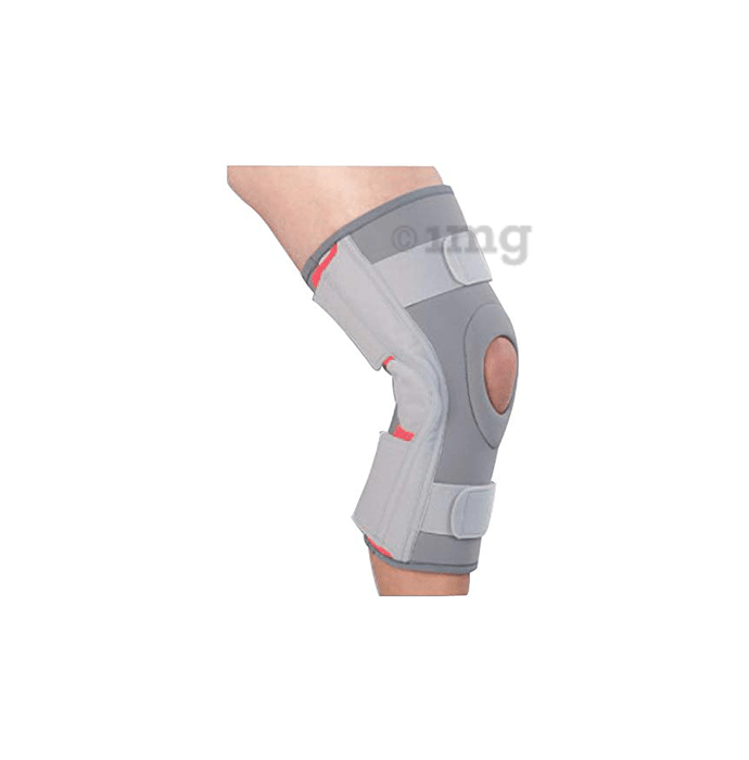 Medtrix Functional Open Patella Hinge Knee Support L Grey