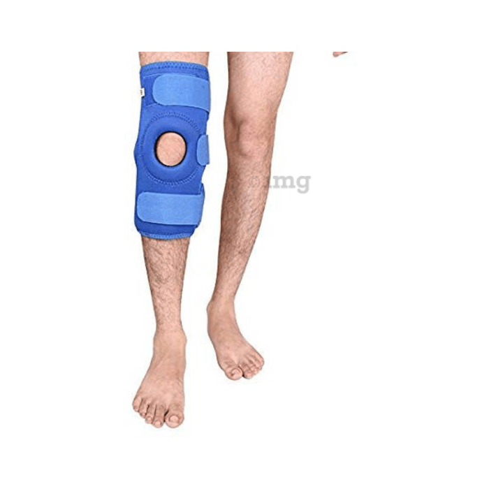 Medtrix Functional Open Patella Hinge Knee Support L Blue