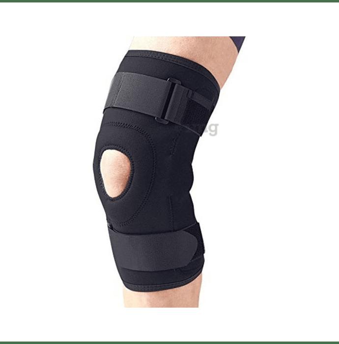 Medtrix Functional Open Patella Hinge Knee Support L Black