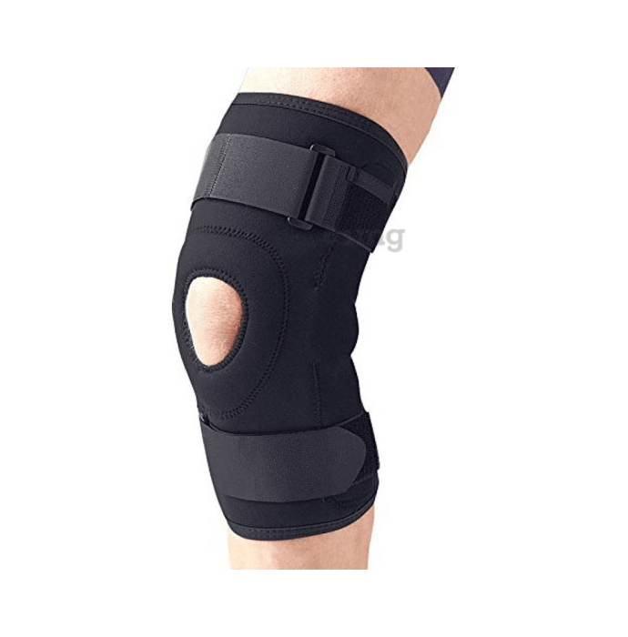 Medtrix Functional Open Patella Hinge Knee Support XL Black