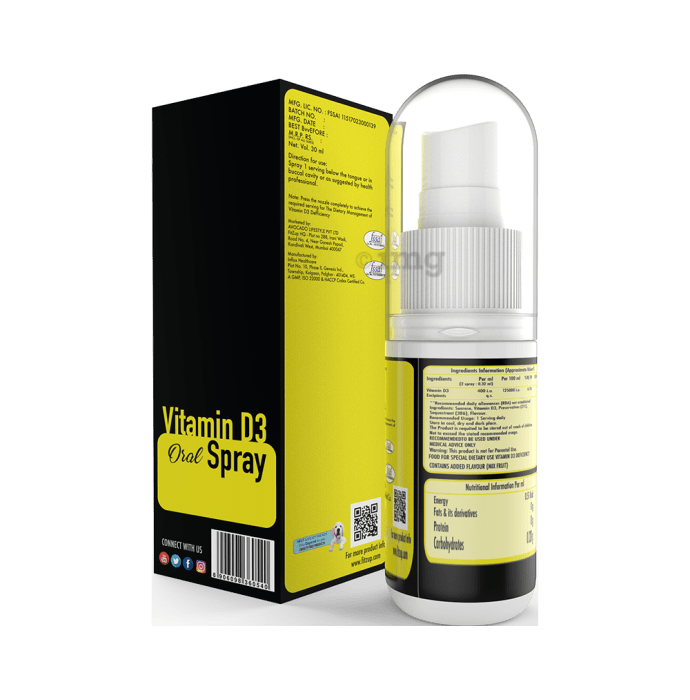 Fitzup Vitamin D3 Oral Spray