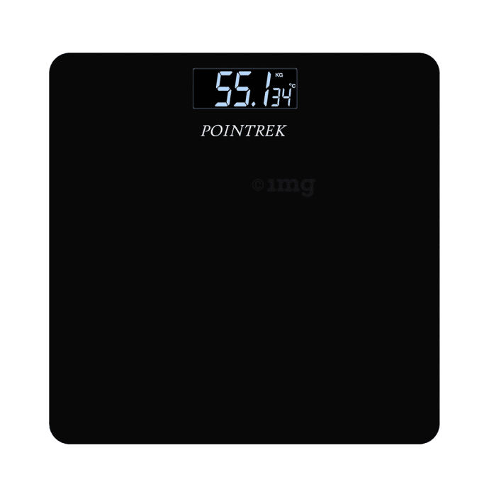 Pointrek Digital/LCD Weighing Scale Black Glass
