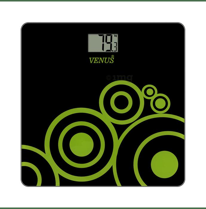 Venus Digital LCD Weighing Scale Black Glass