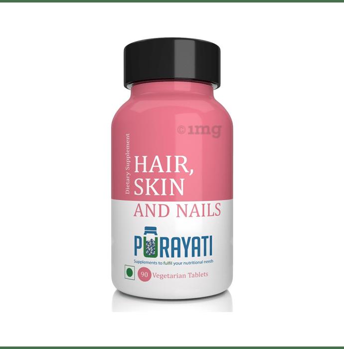 Purayati Hair,Skin and Nails Vegetarian Tablet