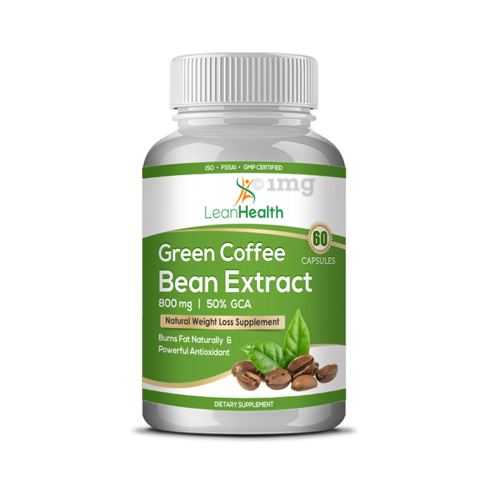Leanhealth Green Coffee Bean Extract 800mg Capsule