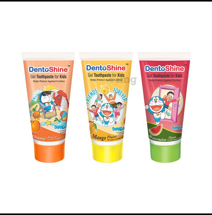 DentoShine Gel Toothpaste for Kids Orange Mango & Watermelon