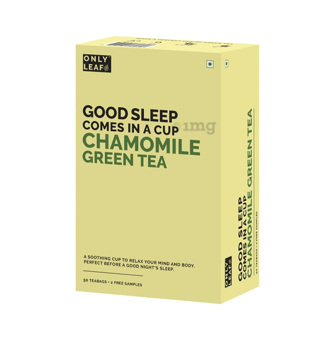 Only Leaf Green Tea Chamomile with 2 Free Samples