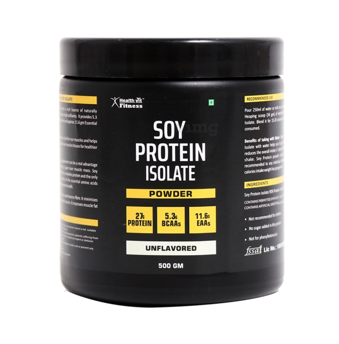 HealthVit Soy Protein Isolate Powder Unflavoured