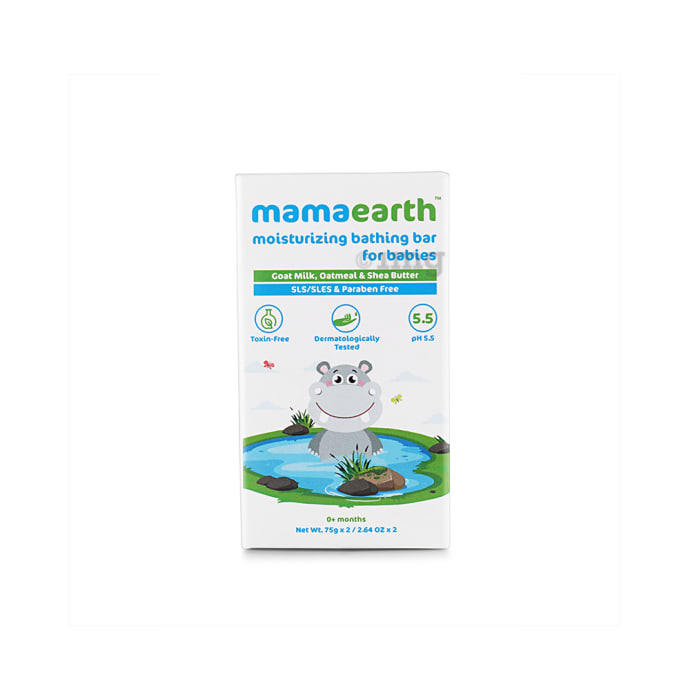 Mamaearth Moisturizing Bathing Bar for Babies (75gm Each)