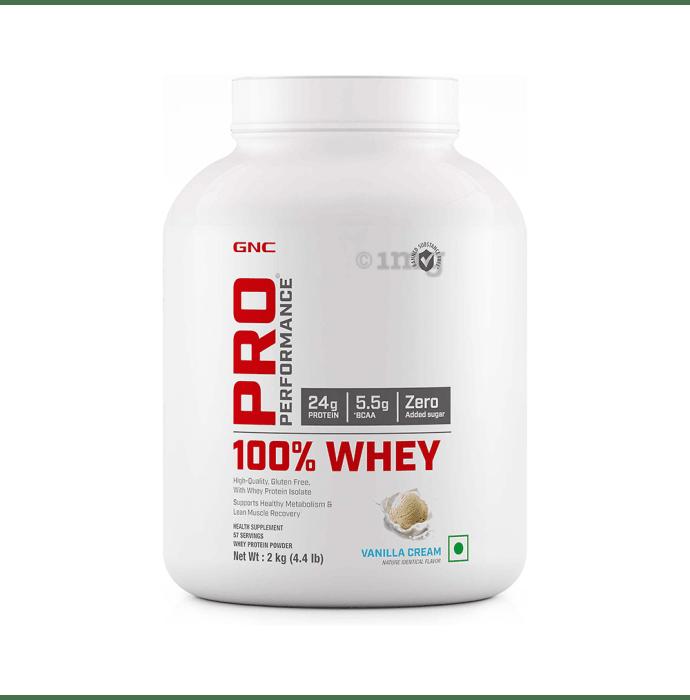 GNC Pro Performance 100% Whey Protein Powder Vanilla Cream