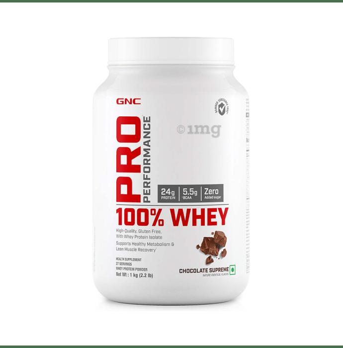 GNC Pro Performance 100% Whey Protein Powder Chocolate Supreme