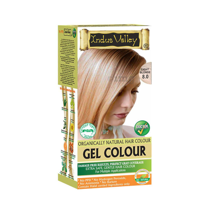 Indus Valley Organically Natural Hair Colour Gel Light Blonde