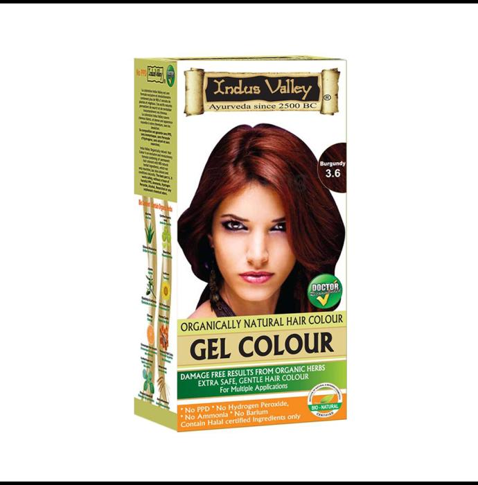 Indus Valley Organically Natural Hair Colour Gel Burgundy