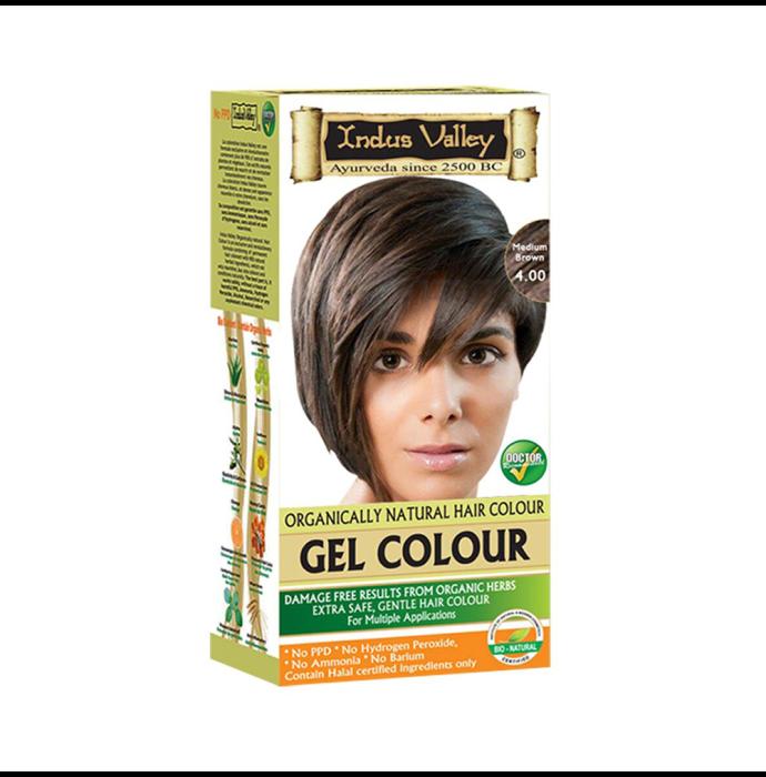 Indus Valley Organically Natural Hair Colour Gel Medium Brown