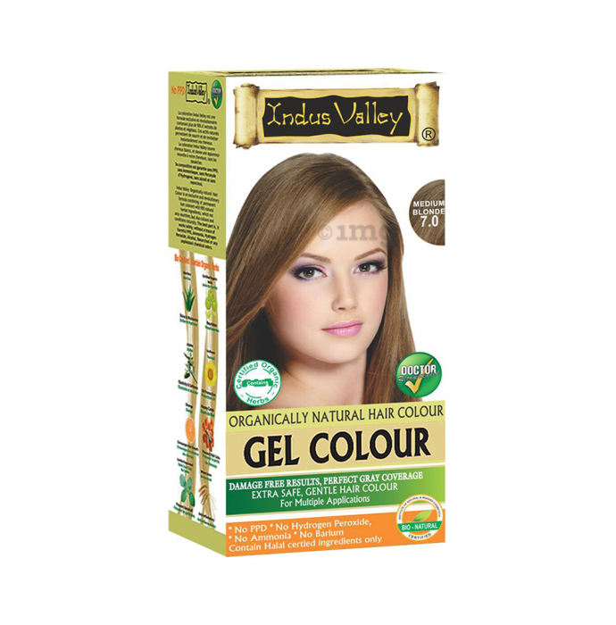 Indus Valley Organically Natural Hair Colour Gel Medium Blonde