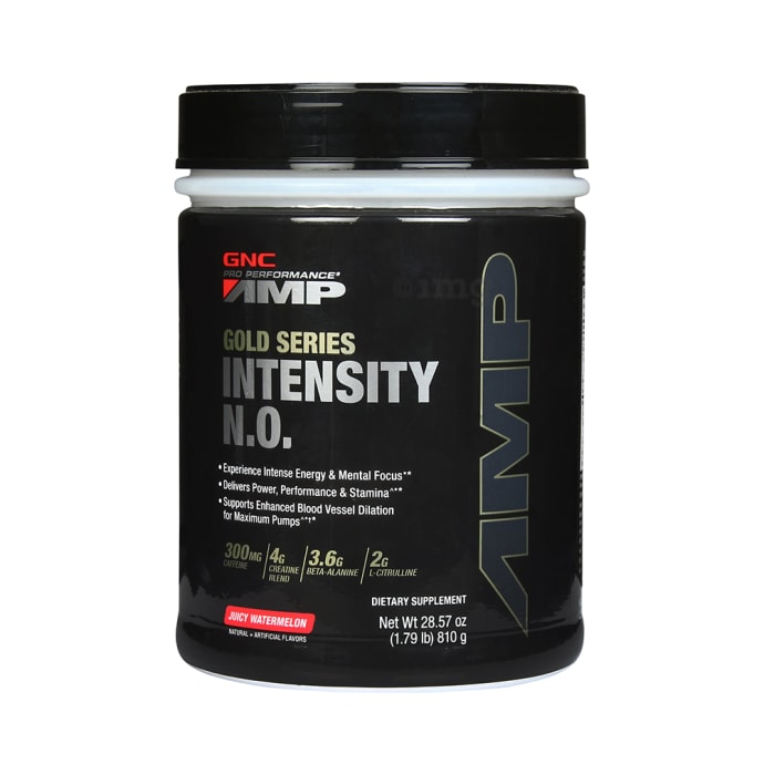 GNC AMP Gold Series Intensity N.O. Powder Juicy Watermelon