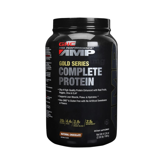 GNC AMP Gold Series Complete Protein Powder Natural Chocolate