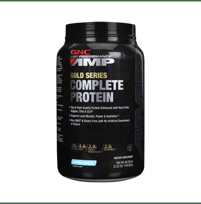 GNC AMP Gold Series Complete Protein Powder Natural Vanilla