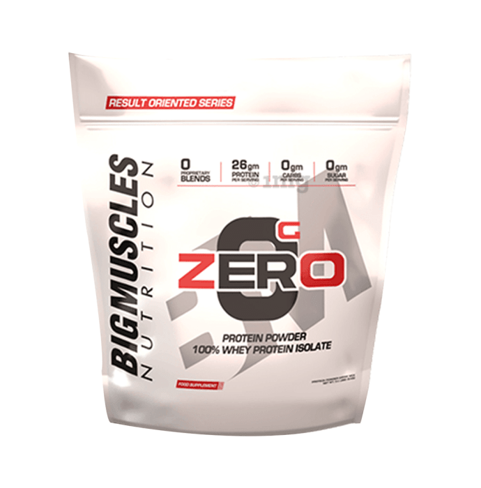 Big  Muscles Zero Protein Powder 100% Whey Isolate Rich Chocolate