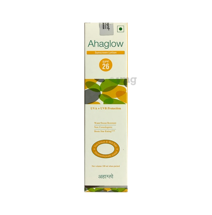 Ahaglow Sunscreen Lotion SPF 26