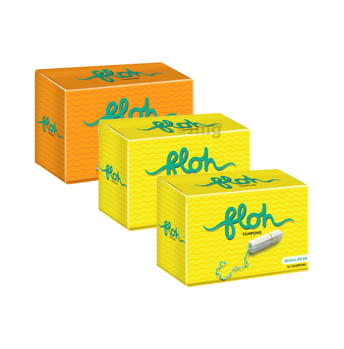Floh Combo Pack of 1 Super & 2 Regular Tampons