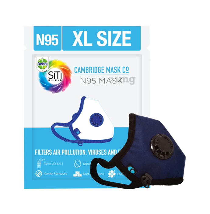 Dettol Cambridge Basic N95 Anti-pollution Mask XL Navy