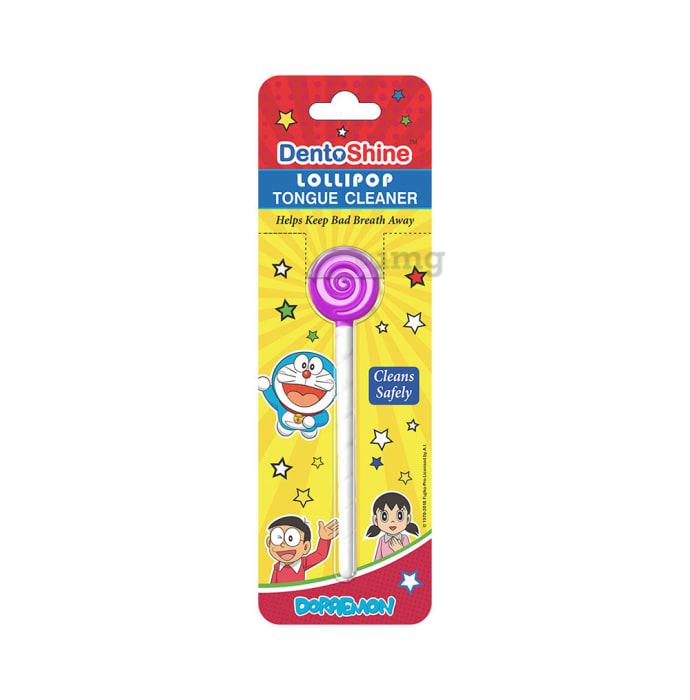 DentoShine Lollipop Tongue Cleaner for Kids Purple