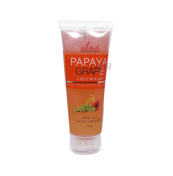 Alna Face Wash Papaya Grape