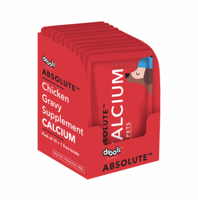 Drools Absolute Calcium Gravy Supplement for Dog (35gm Each)