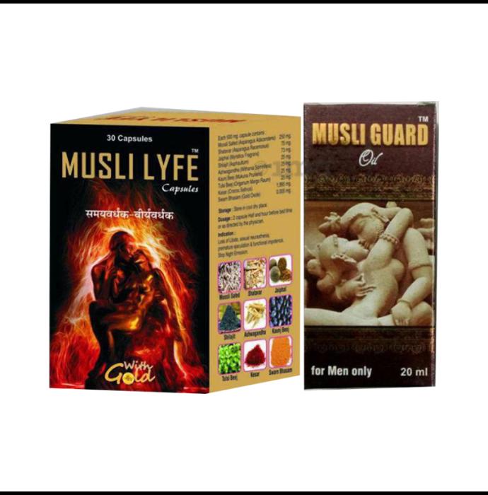 G & G Pharmacy Combo Pack of Musli Lyfe Capsule 30 and Musli Guard Oil 20ml