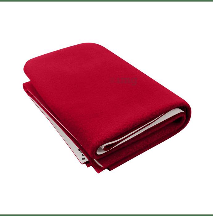 Polka Tots New Born Baby Mat Bed Protector Waterproof Sheet M Dark Red