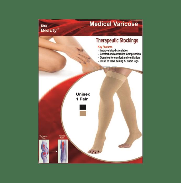 Sira Beauty Medical Vericose Grade II Medium Pressure Pair of Stockings L Beige