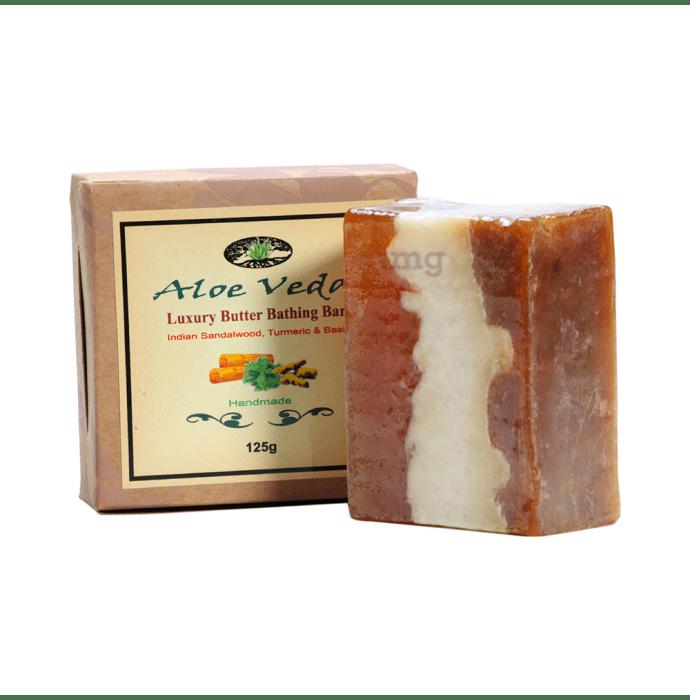Aloe Veda Luxury Butter Bar Indian Sandalwood Turmeric and Basil