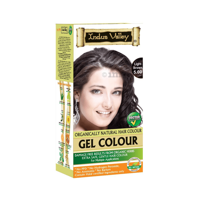 Indus Valley Organically Natural Hair Colour Gel Light Brown