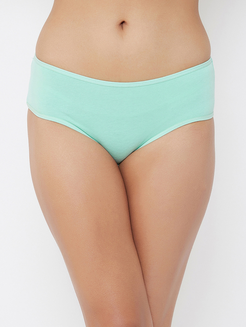 Clovia Green Cotton Hipster Panty Price in India