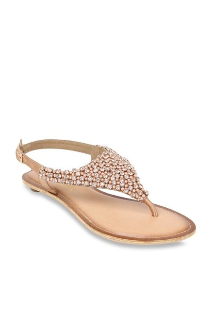 Catwalk Rose Gold Back Strap Sandals Price in India