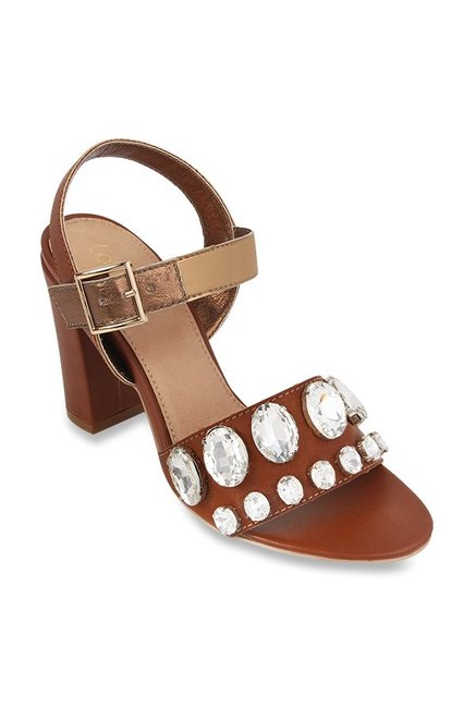 Catwalk Tan Ankle Strap Sandals Price in India