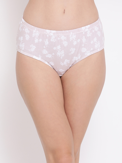 Clovia Beige Printed Hipster Panty Price in India