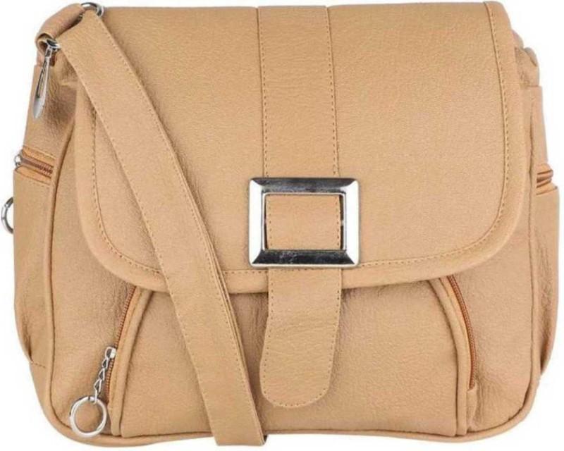 Women Beige Sling Bag Price in India