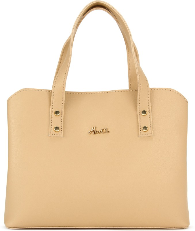 Beige Women Hand-held Bag Price in India