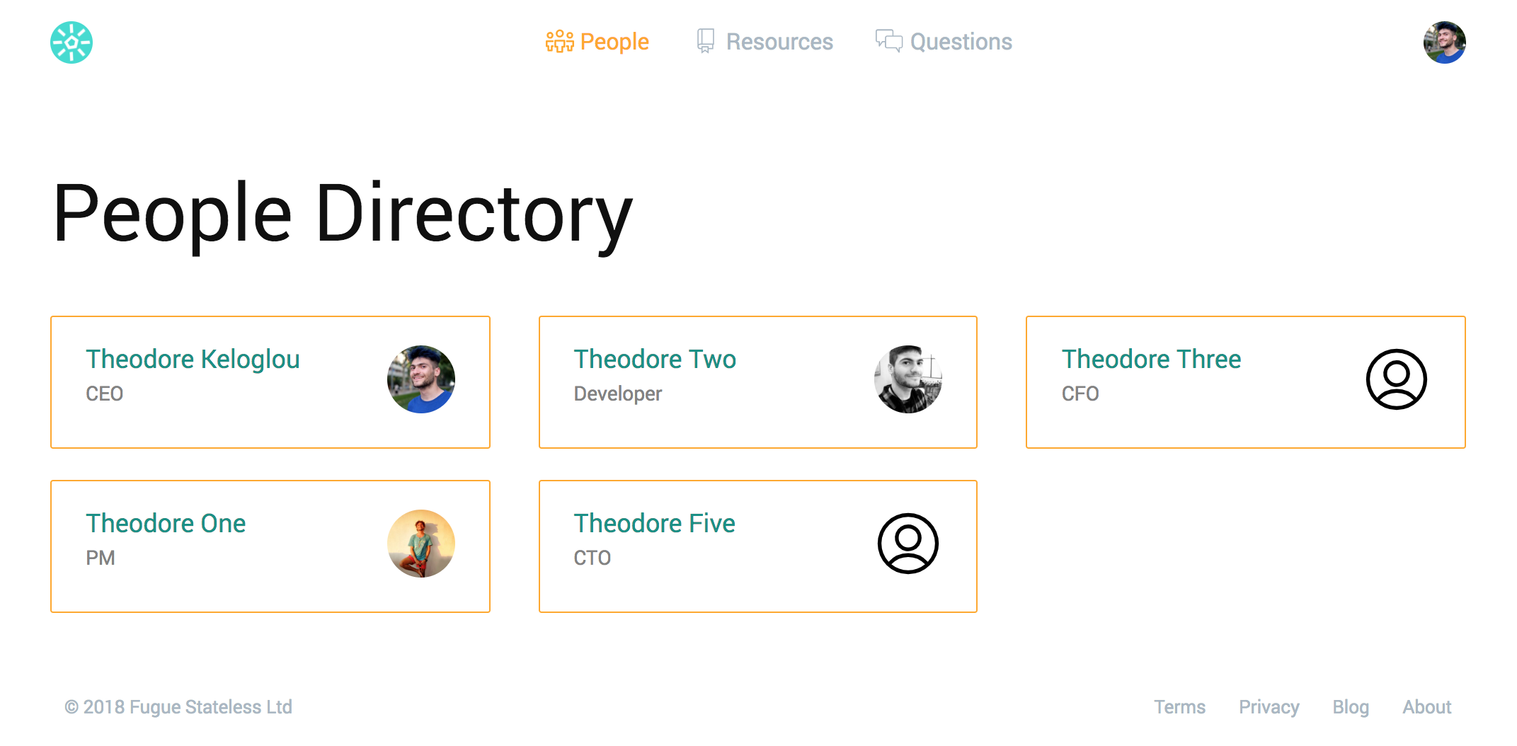 screenshot people directory