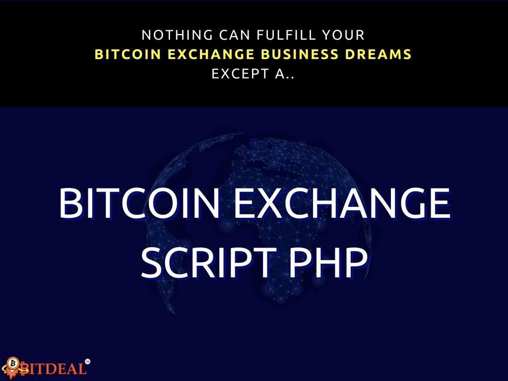 Bitcoin Exchange Script PHP