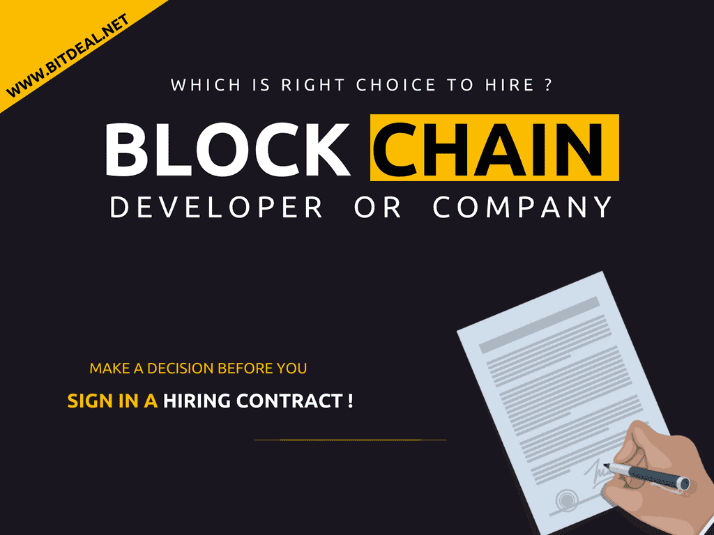 The Benefits of Hiring a Dedicated Blockchain Developer Over Hiring a Blockchain Development Company