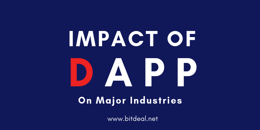 Impacts of Dapp on 3 Major Industries - Ecommerce , Transportation , Healthcare