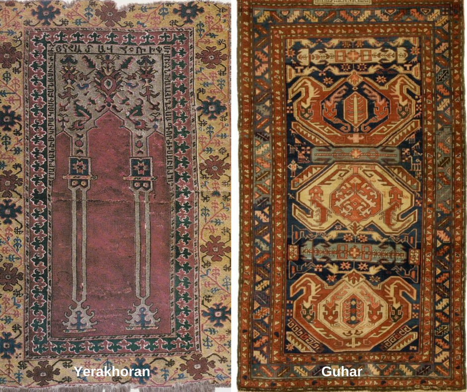 armenian old rugs Yerakhoran and Guhar