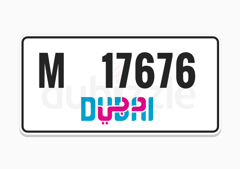 SPECIAL NUMBER - M 1 7 6 7 6