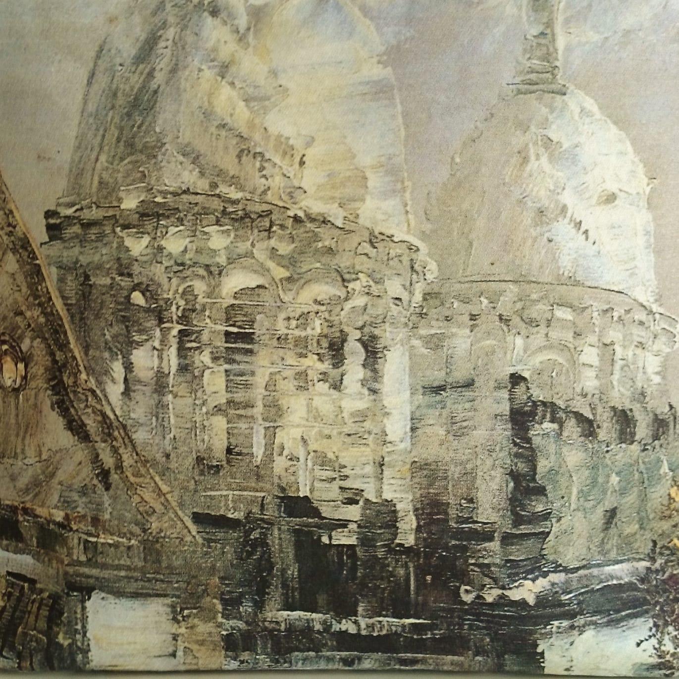 """Sac Cabas """"Sacré Cœur"""", Tableau exécuté par peintre impressionniste imprimé sur toile épaisse."""