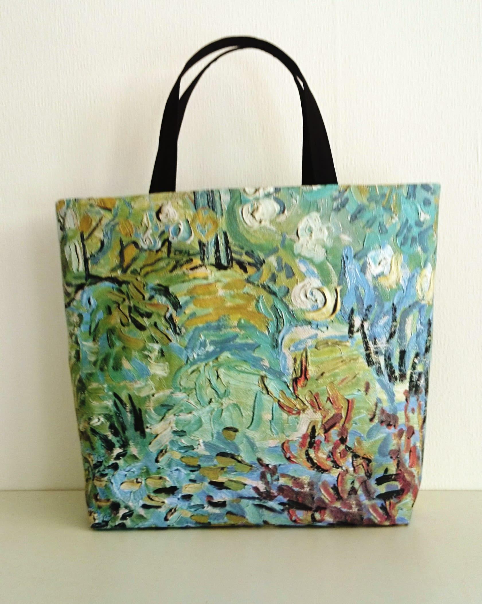 Sac cabas vert et bleu, tableau de Van Gogh.