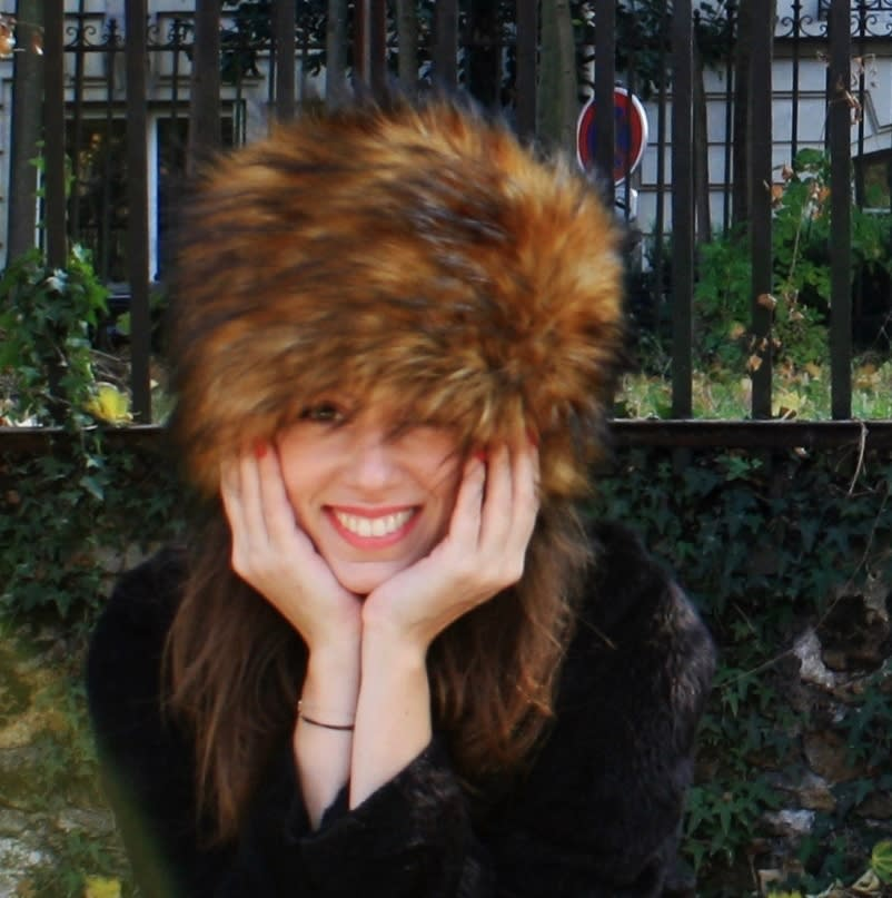 Faux fur hat. Racoon fur imitation winter hat. Long haired fur Russian hat.